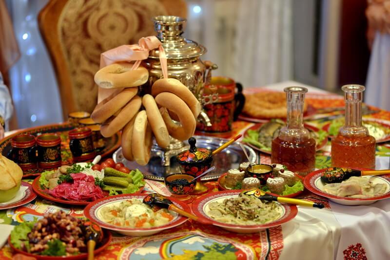 Свадебный стол в русском стиле