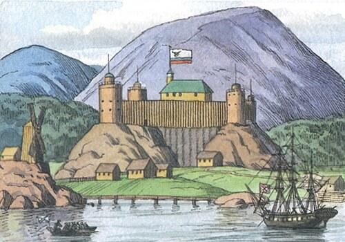 Новоархангельск в начале XIX в.