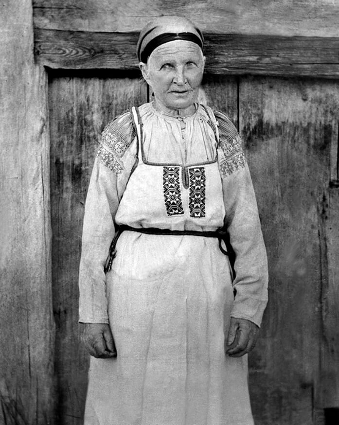 Народ Водь, женщина