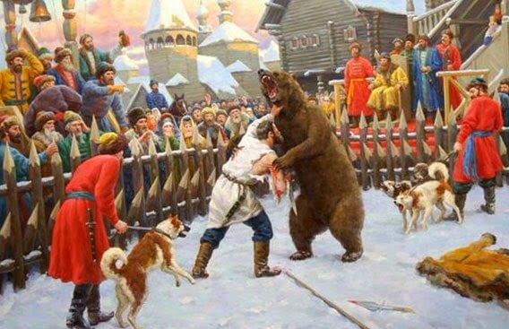 Бой с медведем на Руси