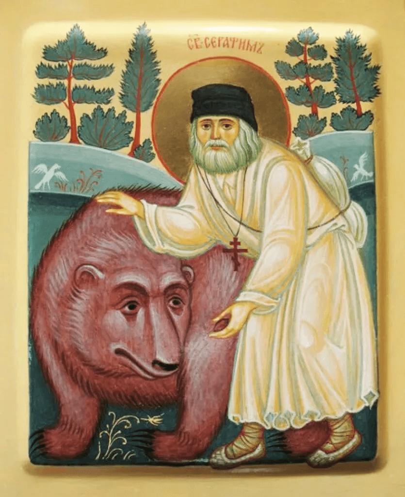Икона с медведем